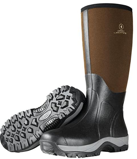 Dark Lightning Insulated Rubber waterproof Fishing Boots