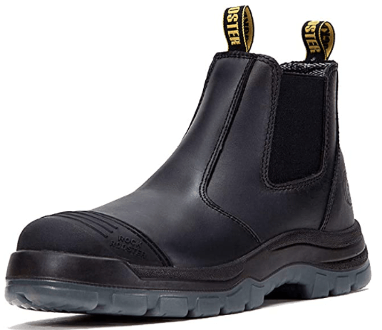 ROCKROOSTER Work Boots: (Safety Working Shoes)