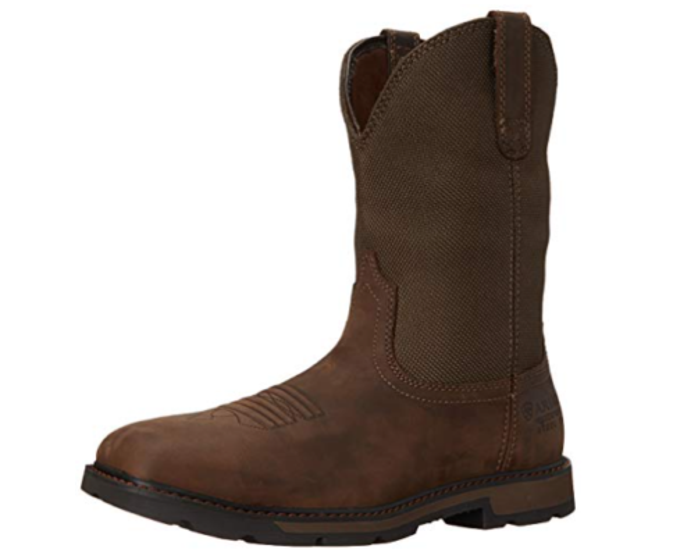 Ariat Groundbreaker Work Boots: (waterproof slip-on work boots)